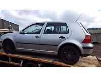 vw golf 1.6 petrol breaking