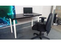 Black Office chairs x 4. In excellent condition. Cost £165 each new. Delivery is availiable.