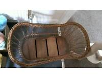 Two old Moses baskets