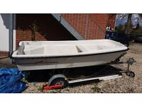 Orkney Dory 315 Boat with trailer & Outboard Yamaha 15hp Engine