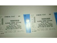 2x Biffy Clyro Standing Tickets Glasgow Bellahouston park £60 for both