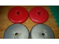 Vinyl weight plates 26kg