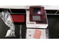 Nintendo DSI XL, wine colour like new with box