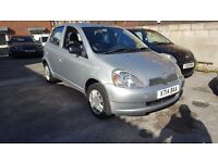 TOYOTA YARIS VVT-I CDX, 1 LITRE PETROL, 4 DOOR, 2001, 135K, 2 PREVIOUS OWNERS!