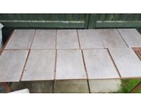 Wickes grey porcelain bathroom floor tiles 400 x 325 - 10 Quantity plus 1 with mark on it