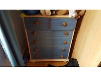 Chest of Drawers, blue, childrens