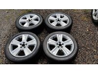 Subaru Outback Forester Legacy 17 inch Alloy Wheels x4 plus tyres 17x7JJ Offset 48