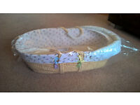 Brand New Moses Basket - M&S My Unusual Friends
