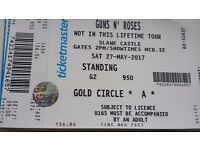 Guns n roses tickets. Slaine. 2 tickets for golden circle. This concert is sold out.