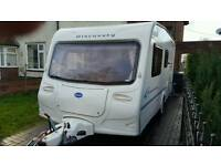 Bailey Discovery 4 berth caravan full awning