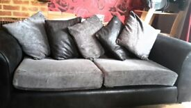 3 seater sofa, arm chair & footstall
