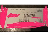 Black Sabbath standing ticket Glasgow Hydro
