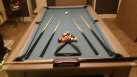7ft slate bed pool dining table 6months old like new was 1600 take 950