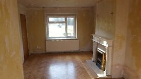 3 bed terraced house close to schools with garage and garden in Esher requiring refurbishment