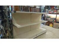 Gondola shop shelving **As new** Double sided in cream colour 2000mmx1000mm
