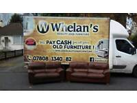3 and 2 seater sofa in full brown leather through out