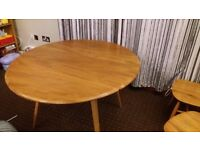 Ercol windsor blonde dining table and 4 blonde quaker chairs. **i can deliver**