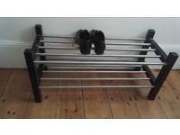 Ikea shoe rack Tjusig black
