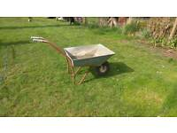 Wheel barrow galvanized