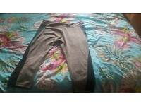 Cropped length sports leggings size 16