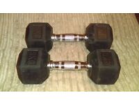 Hex 8kg rubber dumbbells barely used £19 ono for the pair (rrp £70)