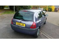 RENAULT CLIO, LONG MOT 08 MAR 2017, VERY CHEAP INSURANCE & TAX, VERY ECONOMICAL, DRIVES VERY WELL.