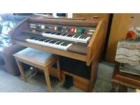 electric organ with stool