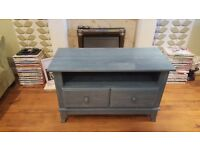 Vintage Retro Silentnight Style 2 Drawer Chest Small Sideboard Bedside Table TV Unit T V Stand
