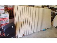 Cream slat boards - used