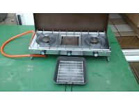 Portable camping gaz stove c/w grill good condition