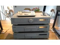 Technics Stereo with amp,cassette player,CD player and Speakers