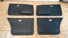 Bmw e28 blue door cards mint condition 82-88 breaking spares 520i 525e 528i m535i can post