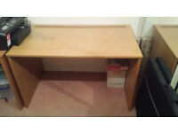 Beech effect office desk