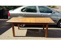 Large Extendable Solid Oak Dining Table