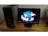 """VERY FAST SSD Dell XPS 420 MINECRAFT Quad Core Gaming Desktop Computer PC With Dell 21"""" Widescreen"""