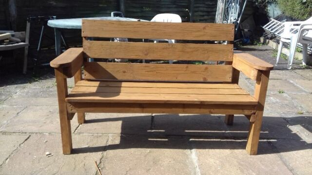 Magnificent Pressure Treated Wooden Bench In Wirral Merseyside Gumtree Machost Co Dining Chair Design Ideas Machostcouk