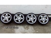Porsche ,VW, Audi, Seat, 19 BBS genuine alloys with spacers 5x100 to 5x130
