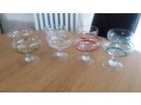 8 Glass desert bowls