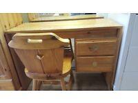 Pine Desk & Chair