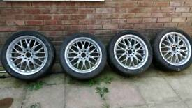 "Peugeot 406 alloys 17"" with decent tyres multi stud"