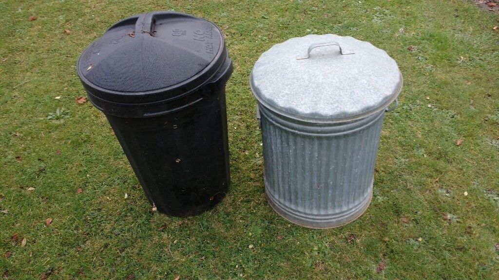 Dust bins used only for bird food