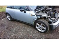 Mini alloys wheels and very good tyres 16 inch