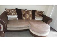 Lovely dfs 3 and 2 the 3 is a lounge back sofa