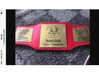 Scottish title belt boxing championship not gloves