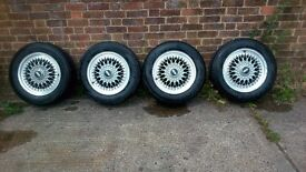 BBS ALLOYD WHEELS AND ALMOST BRAND NEW TYRES