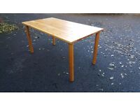 Solid Pine Dining Table (180cm) FREE DELIVERY (03967)
