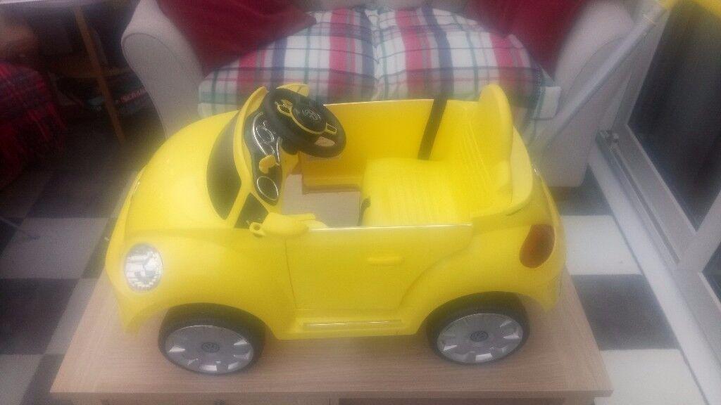 Child's push along car beetle car
