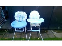 set of two baby highchairs