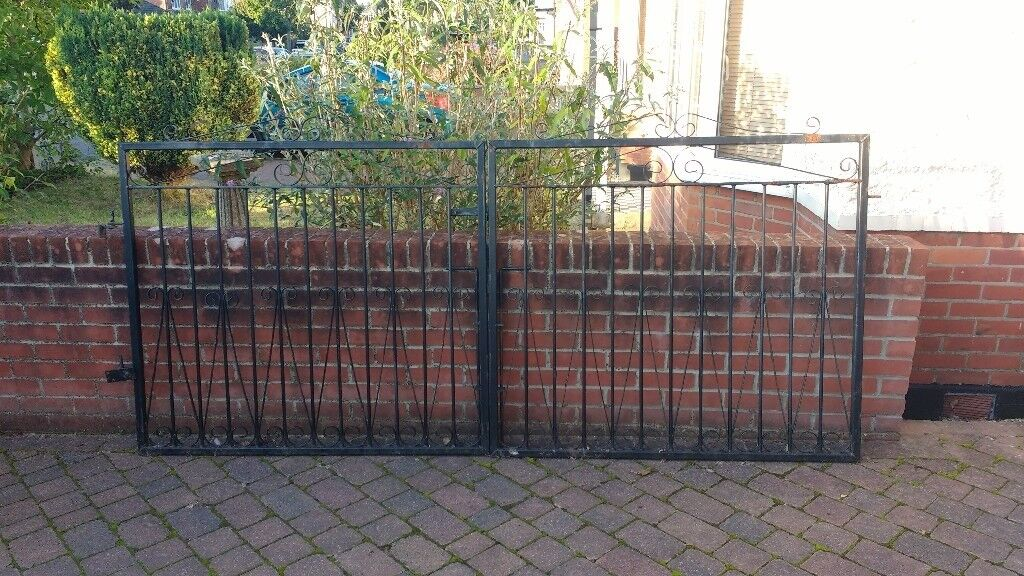 3x wrought iron gates for driveway and/or garden