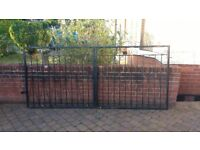 3x wrought iron gates for driveway and/or garden - two 4.5ft, one 3ft